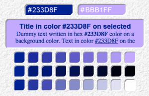 Color Tester >>> http://www.wdb.injoystudio.com/color-tester/