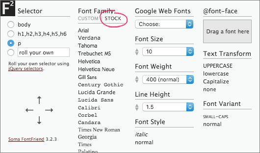 Font­Friend screenshot